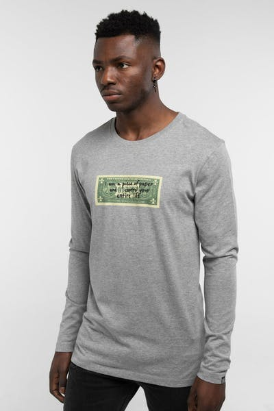 Goat Crew Control Your Life LS Tee Grey