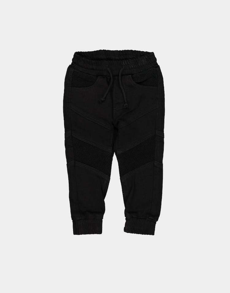 Lil Hommé Motard Panel Jogger Black