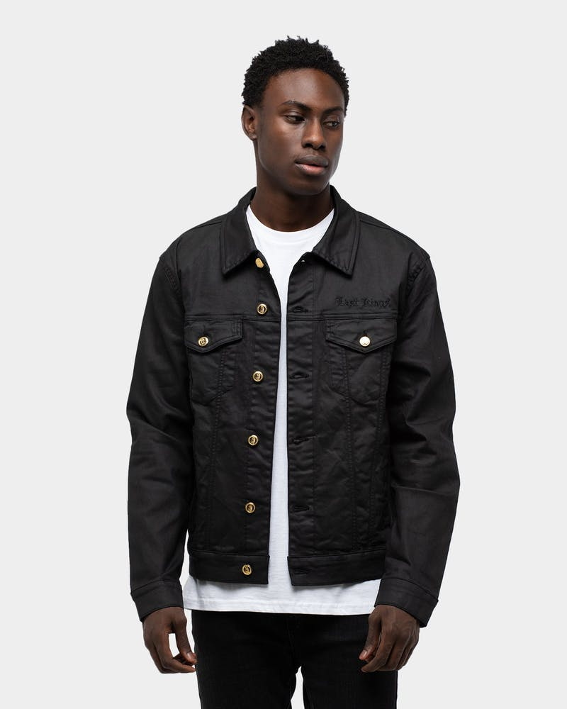 Last Kings Men's Regal Waxed Denim Jacket Black Wax