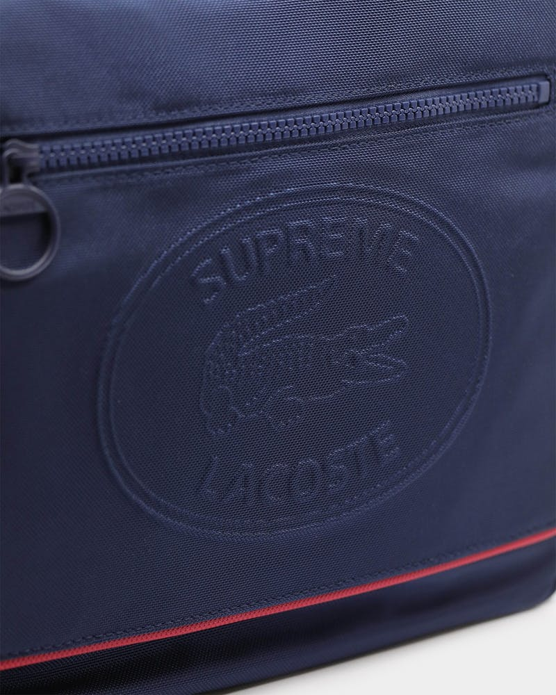Supreme Men's Supreme x Lacoste Messenger Bag Navy/Red