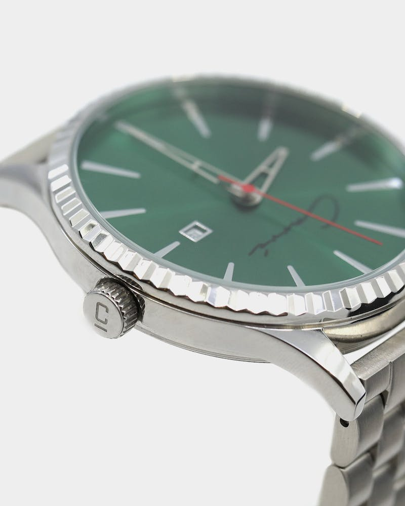 Carré Remy Watch Silver/Green