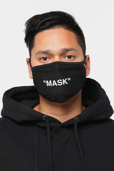 "Goat Crew Men's ""MASK"" Face Mask Black"