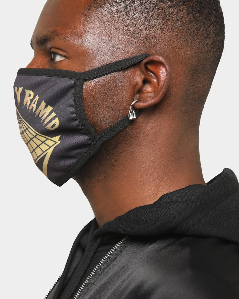 Black Pyramid Men's Core Pyramid Face Mask Black/Gold