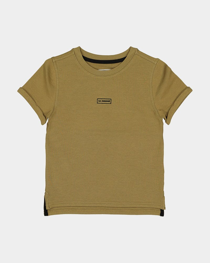 Lil Homme Kid's Commando Short Sleeve T-Shirt Olive