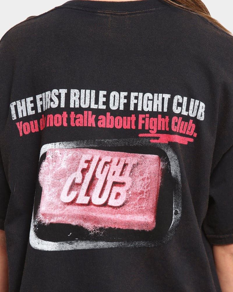 Goat Crew Fight Club Vintage Short Sleeve T-Shirt Black Wash