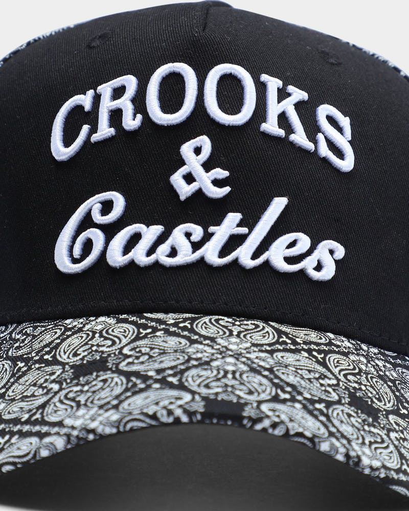 Crooks & Castles Paisley Crooks Snpaback Black