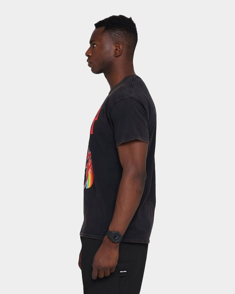 Slayer Rainbow Goat Vintage T-Shirt Black Wash