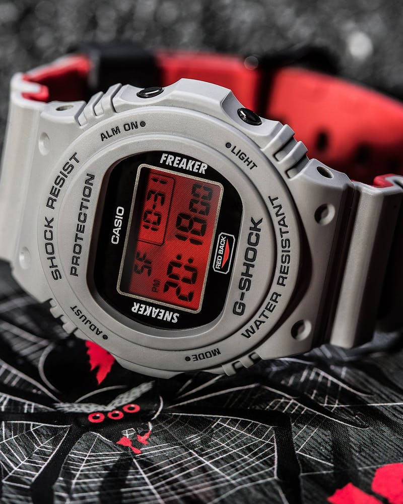 G Shock X Sneaker Freaker 2.0 Grey/Red