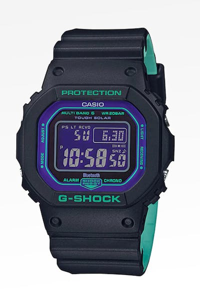 G Shock GWB 5600BL 90's Retro Sports Neon Purple Black/Purple