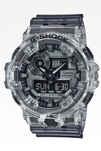 G Shock GA-700SK-1A 80'S SKELETON SERIES Trans/Grey