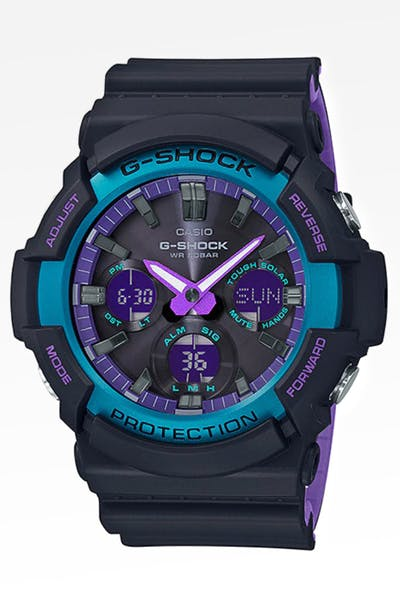 G Shock 90's Retro Sports Neon Purple Black/Purple