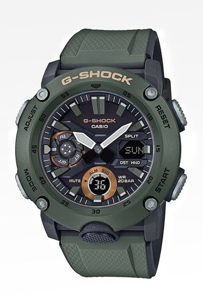 G Shock GA2000 Carbon Core Series Olive
