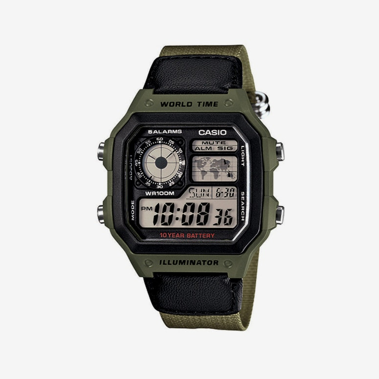 G Shock AE1200WH Series Olive