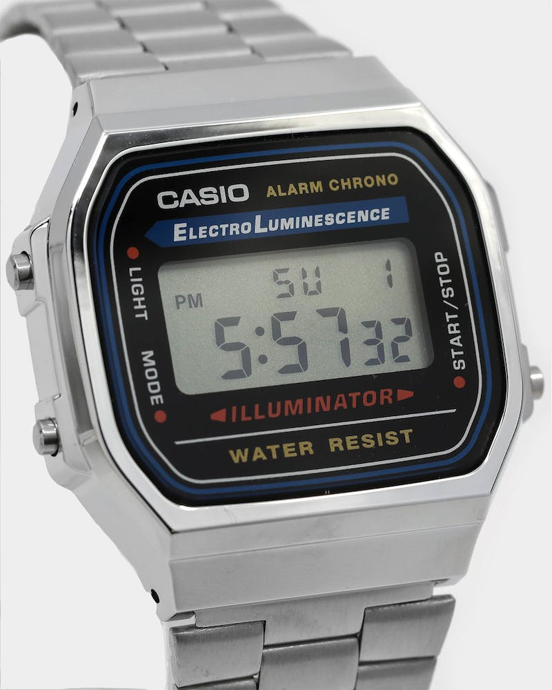 Casio Gents Digital A168WA-1 Silver/Black