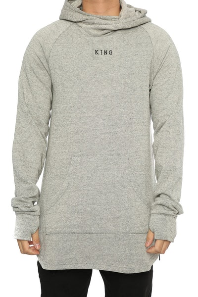 King Apparel Stamp Wrap Hoodie Light Grey