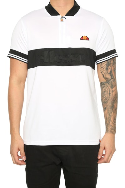 Ellesse Fillippo Zip Tee White