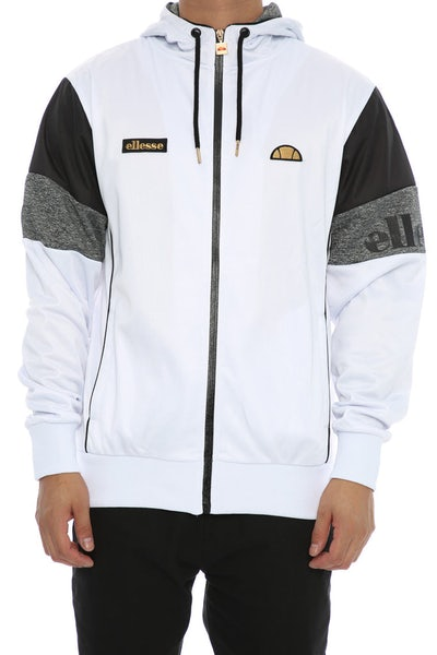 Ellesse Oro Hooded Track Sweat White