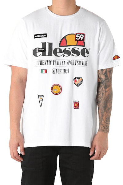 Ellesse Vachet Badged Tee White