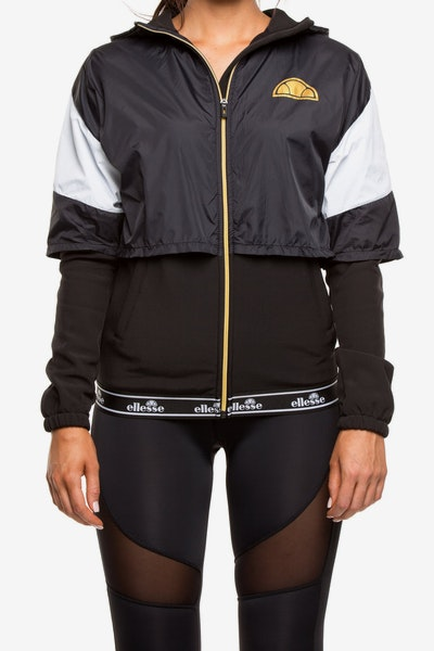 Ellesse Women's Gianduiotto Overlayed Jacket Anthracite