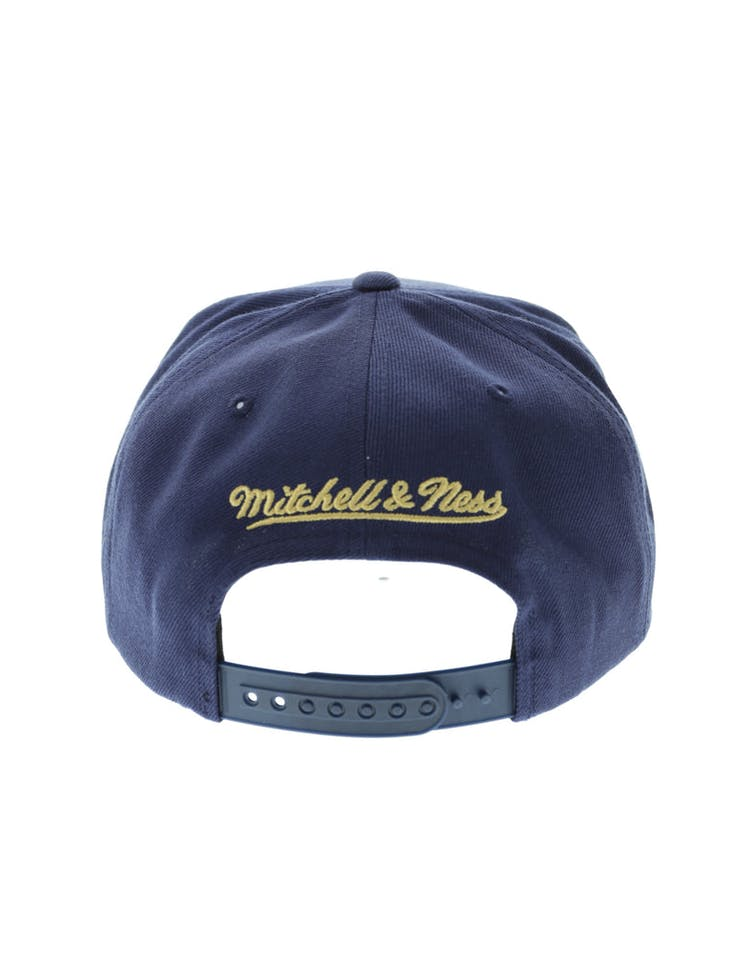 premium selection fae72 c91e5 Mitchell   Ness New Orleans Pelicans Wool Solid Snapback Navy Green