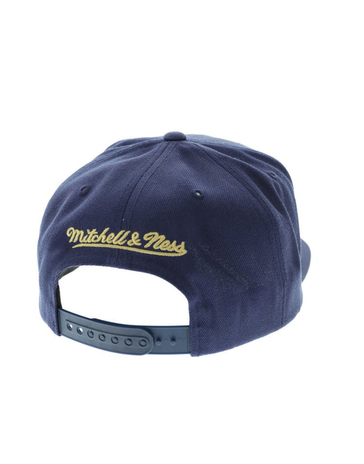 premium selection 0f536 2800b Mitchell   Ness New Orleans Pelicans Wool Solid Snapback Navy Green