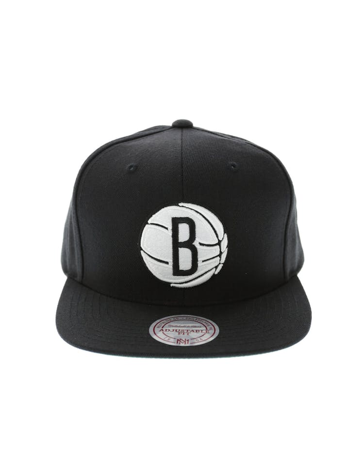 sale retailer 01bf5 8e3bd Mitchell   Ness Brooklyn Nets Wool Solid Snapback Black Green – Culture  Kings