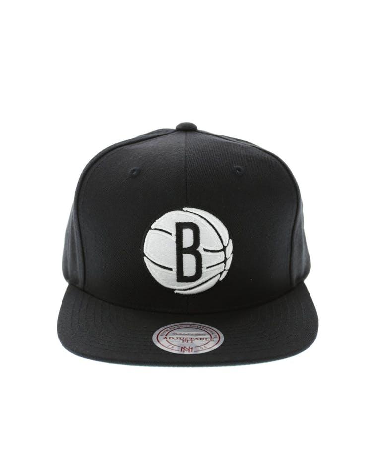 sale retailer 03434 07982 Mitchell   Ness Brooklyn Nets Wool Solid Snapback Black Green – Culture  Kings