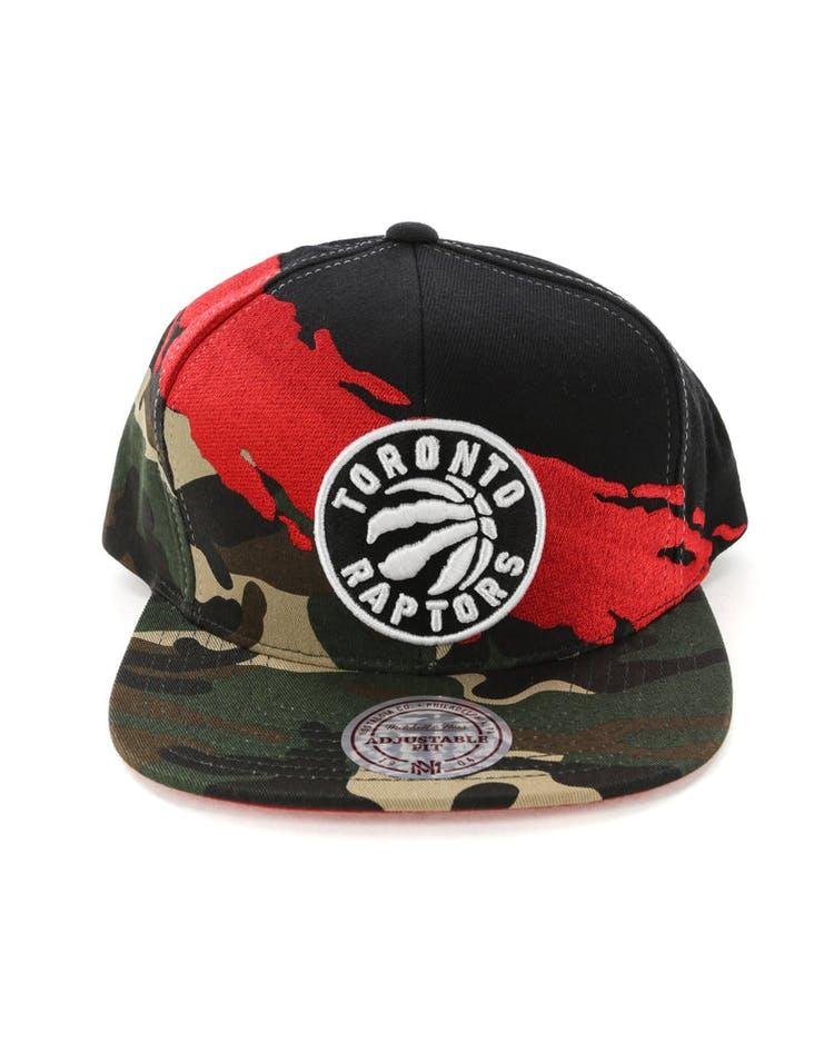 36b602f89 Mitchell & Ness Toronto Raptors Camo Paintbrush Snapback Red/Black
