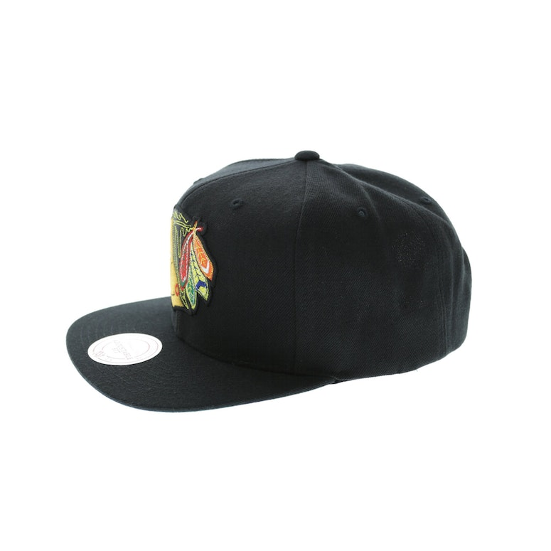 Mitchell & Ness Chicago Blackhawks Wool Solid Snapback Black/Green