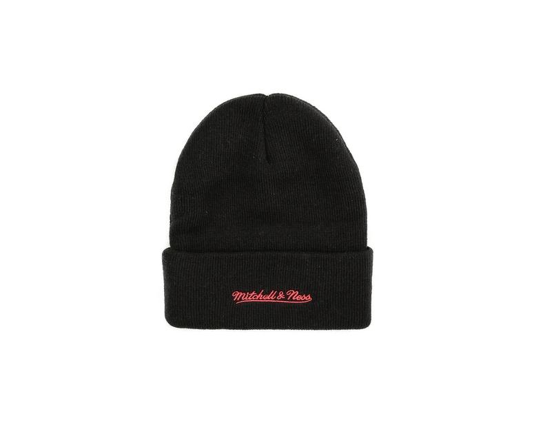 Mitchell & Ness Chicago Bulls Logo Cuff Beanie Black