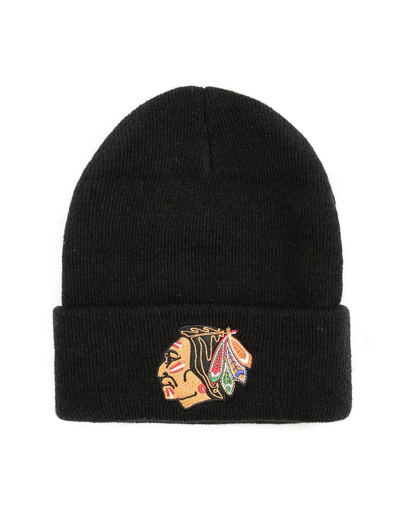 Mitchell & Ness Chicago Blackhawks Logo Cuff Beanie Black