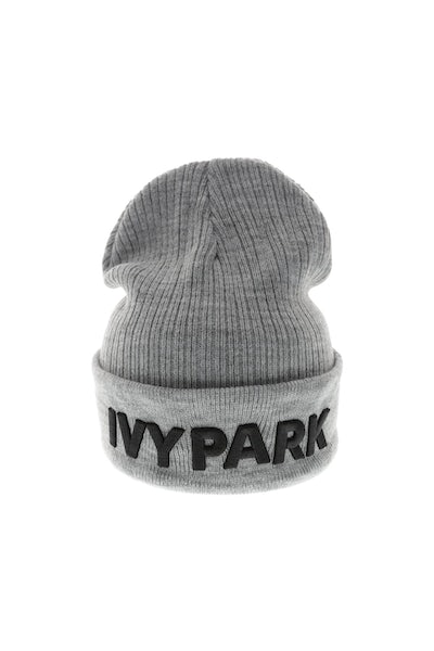 Ivy Park Logo Rib Beanie Light Grey