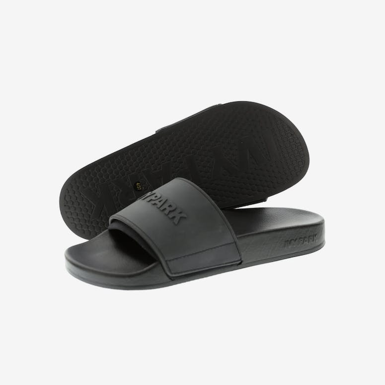 9edd326d7604de Ivy Park Neo Lined Embossed Logo Slides Black – Culture Kings