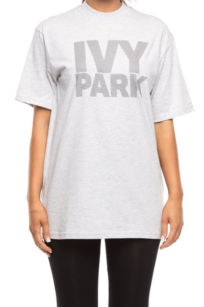 Ivy Park Dots Logo Fitted Tee Dark Marle