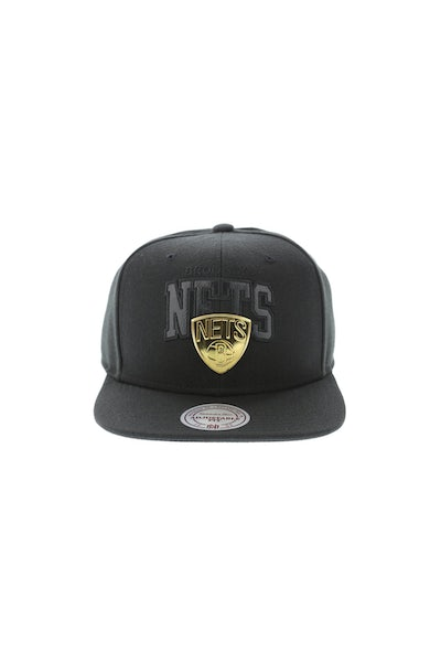 Mitchell & Ness Brooklyn Nets Lux Arch Snapback Black/Gold
