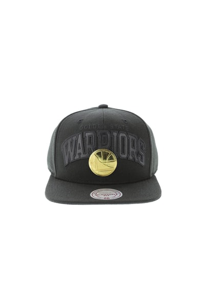 Mitchell & Ness Golden State Warriors Lux Arch Snapback Black/Gold