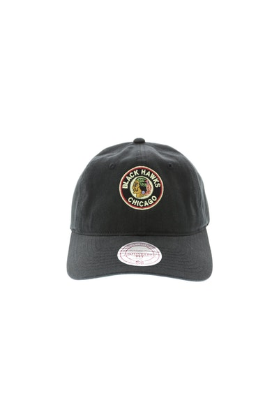 Mitchell & Ness Blackhawks Cotton Strapback Black
