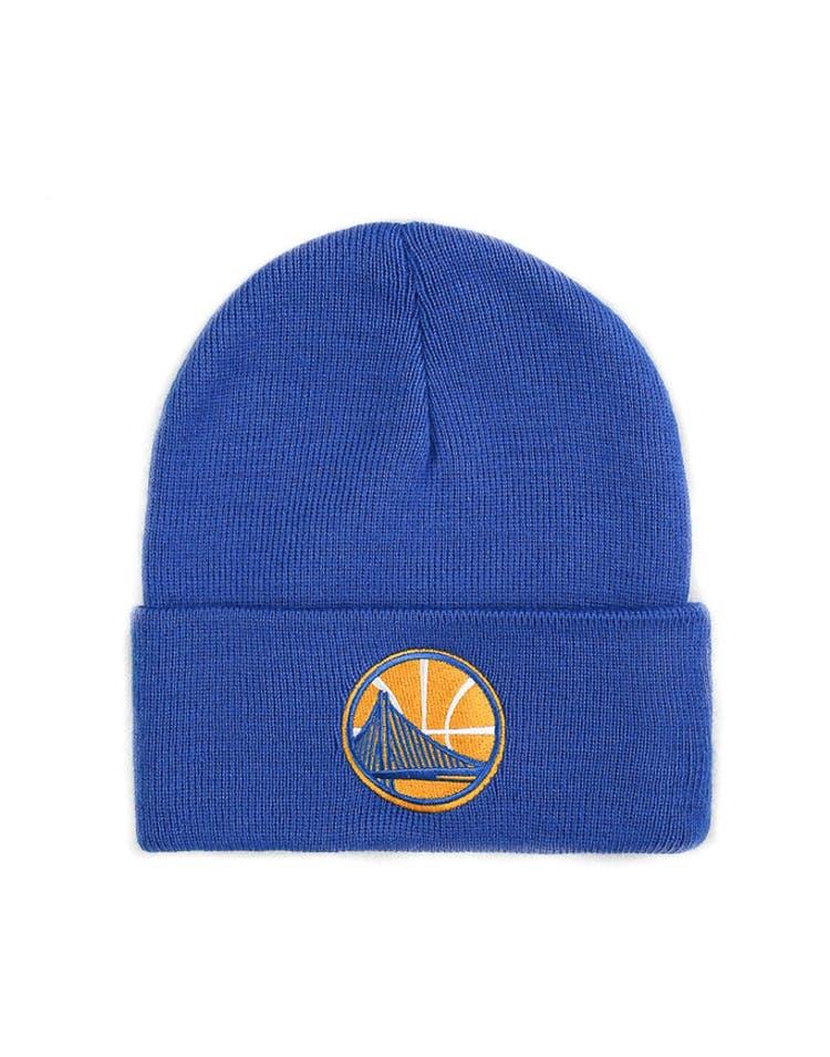 f986967ff89034 Mitchell & Ness Golden State Warriors Logo Cuff Beanie Blue – Culture Kings