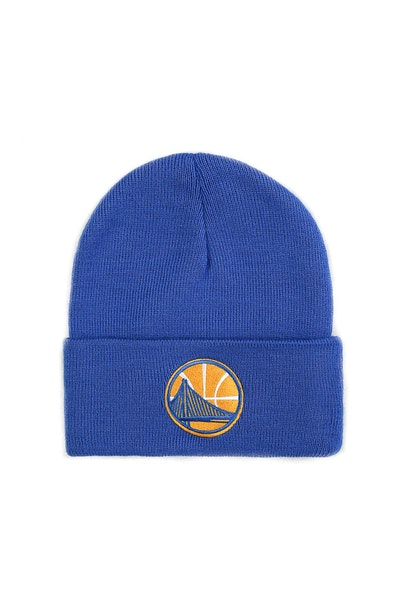 Mitchell & Ness Golden State Warriors Logo Cuff Beanie Blue