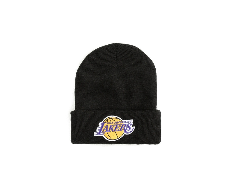 Mitchell & Ness Los Angeles Lakers Logo Cuff Beanie Black