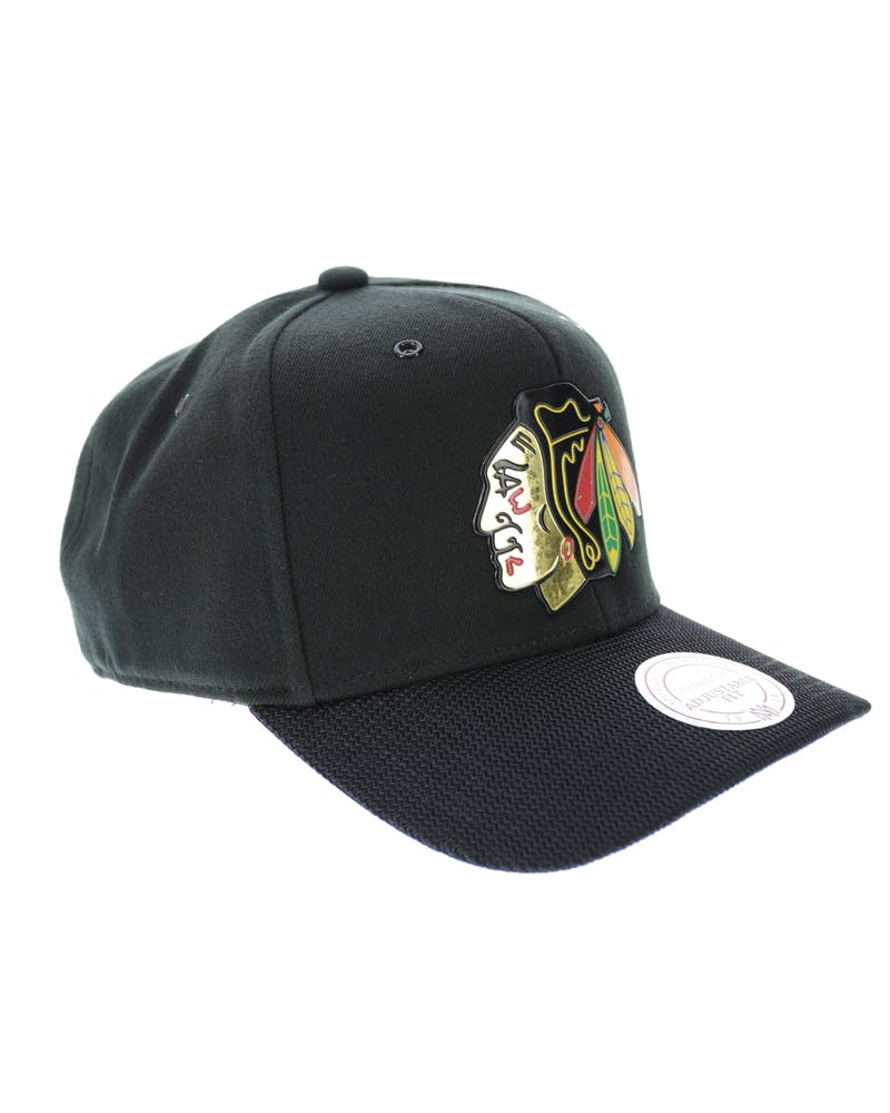 Mitchell & Ness Blackhawks Sonic 110 Snapback Black