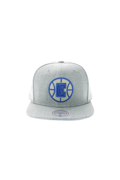 Mitchell & Ness Los Angeles Clippers Heather Snapback Grey