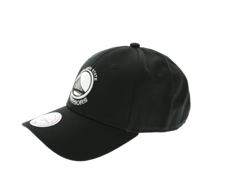 Mitchell & Ness Warriors Low Pro Snapback Black/Black/White