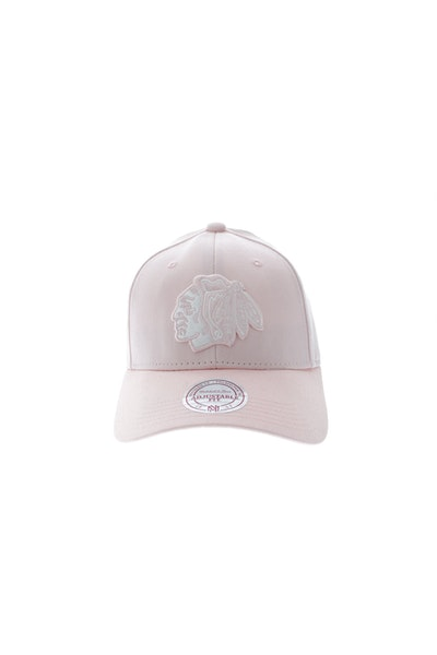 Mitchell & Ness Blackhawks Women's Low Pro Strapback Pink/White