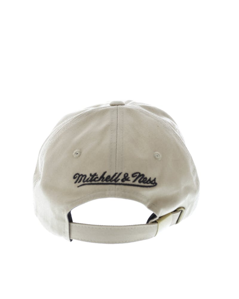 Mitchell & Ness Bulls Rock Font Dad Hat Khaki