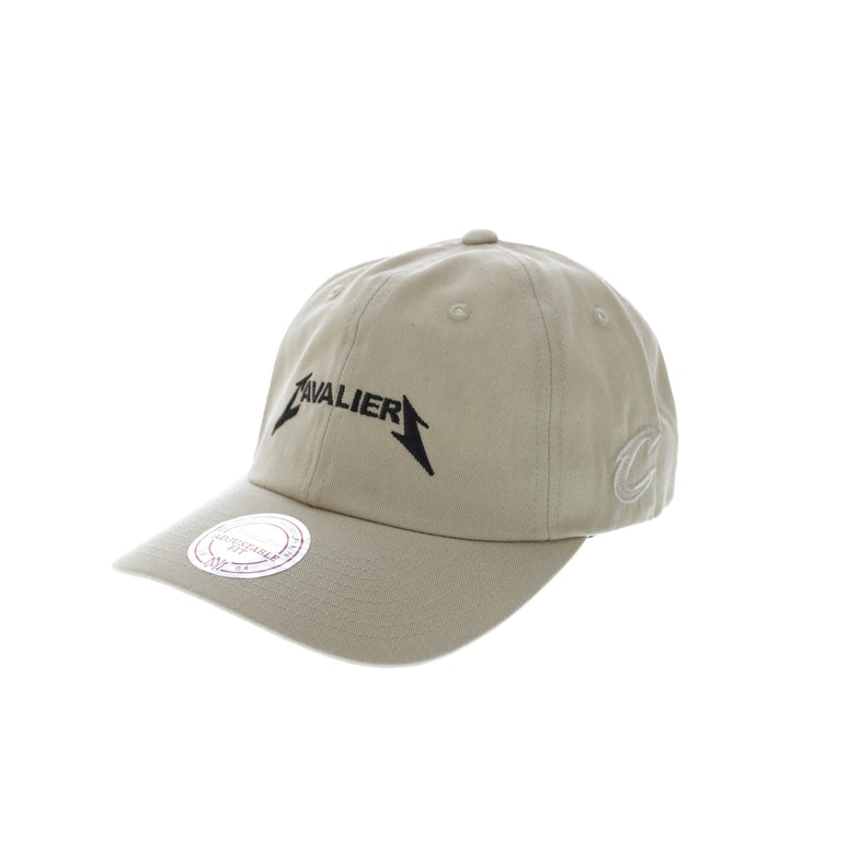 Mitchell & Ness Cavaliers Rock Font Dad Hat Khaki