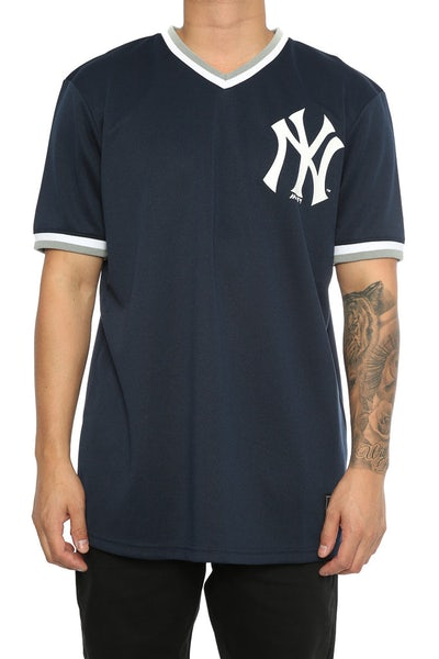 Majestic Athletic Yankees Kabor V Neck Jersey Blue
