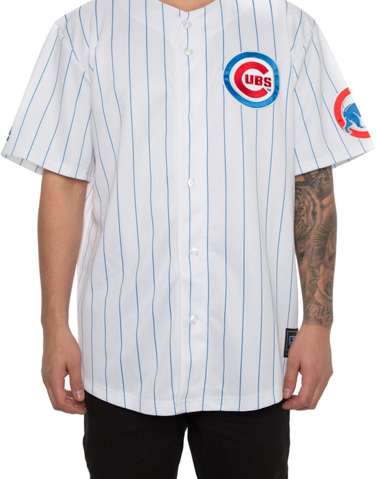 newest 29586 07c88 Majestic Athletic Chicago Cubs Replica Jersey White