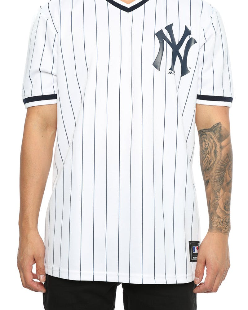 Majestic Athletic Yankees Kabor V Neck Jersey White