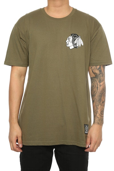 Majestic Athletic Blackhawks Jeaner Tee Olive
